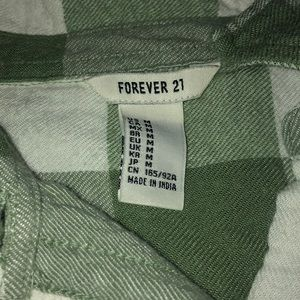 Forever 21 Tops - Green & White F21 Flannel
